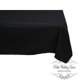 108in:275cm black square table cloth. $12.00 each