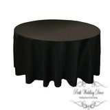 120in:305cm black round table cloth. $18.00 each