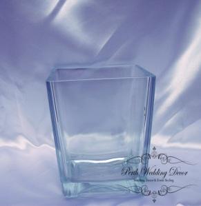 15cm square vase
