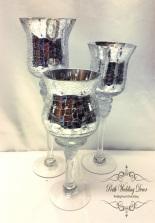 3 crackle vases. $12.00 per set of 3