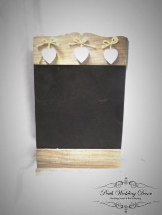 3 heart blackboard. $2.50 each