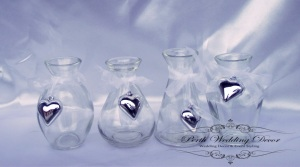 4 set heart jars