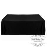 60in:126cm Black rectangular table cloth. $12.00 each