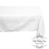 70in:178cm white square table cloth. $10.00 each