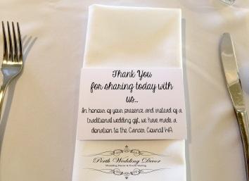 A small donation card. $1.00 each