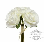 Alice Rose Bouquet x3 Flowers Cream (28cmH)