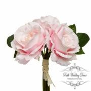Alice Rose Bouquet x3 Flowers Pink (28cmH)