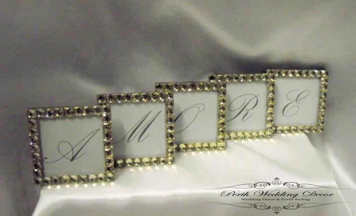 Amore in bling frames. $2.50 per set