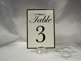 Black and white table numbers. $1.00 each