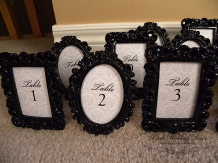 Black framed numbers. $1.00 each