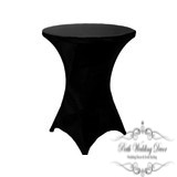 Black lycra dry bar table cloth. $5.50 each