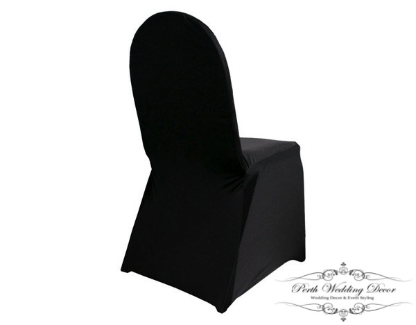 Black Lycra Spandex Chair Cover