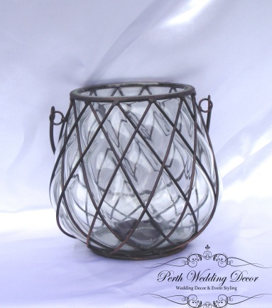 Black wired lantern. $3.00 each