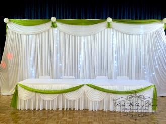 Bridal table coloures draping. 3m-6m $ 18.00, 6m-12m $24.00