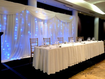 Bridal table skirting only. 3m-6m $18, 6m-12m $24.00