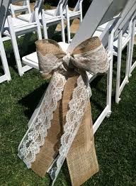 Burlap and lace aisle sash. $1.00 each