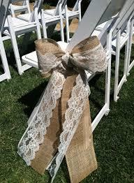 Burlap and lace aisle sash. $1.00 each