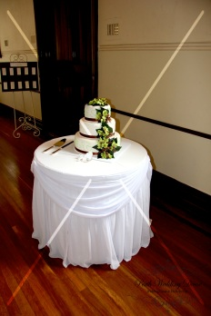 Cake table draping only. $8.00