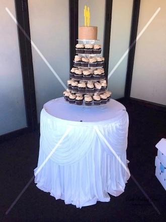Cake table skirting & draping. $12.00