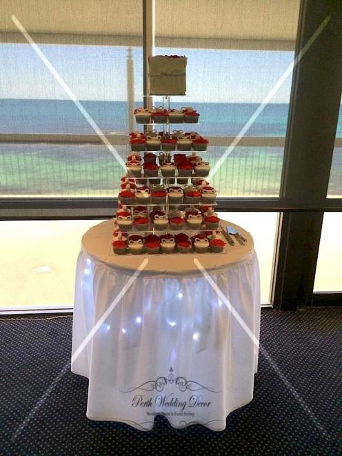 Cake table skirting with lighting. $14.00