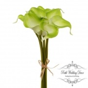 Calla Lily Mini Bouquet (9 Flowers 35cmST) Real Touch Green