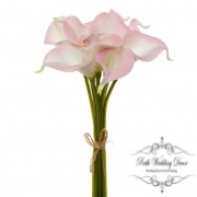Calla Lily Mini Bouquet (9 Flowers 35cmST) Real Touch Pink