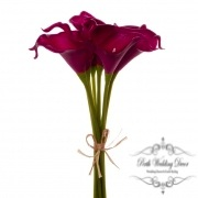 Calla Lily Mini Bouquet (9 Flowers 35cmST) Real Touch Purple