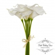 Calla Lily Mini Bouquet (9 Flowers 35cmST) Real Touch White