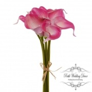 Calla Lily Mini Bouquet(9 Flowers 35cmST) Real Touch H. Pink
