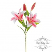 Casablanca Lily Real Touch with 2 flowers Hot Pink (95cmH)
