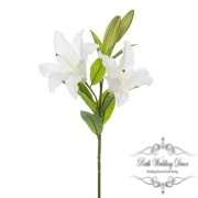 Casablanca Lily Real Touch with 2 flowers White (95cmH)