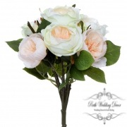 Cathy Rose Cabbage Bouquet Champagne.Green (30cmH)