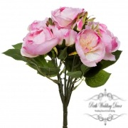 Cathy Rose Cabbage Bouquet Light Pink (30cmH)