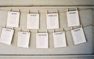 Clothes Line seating chart. $30.00