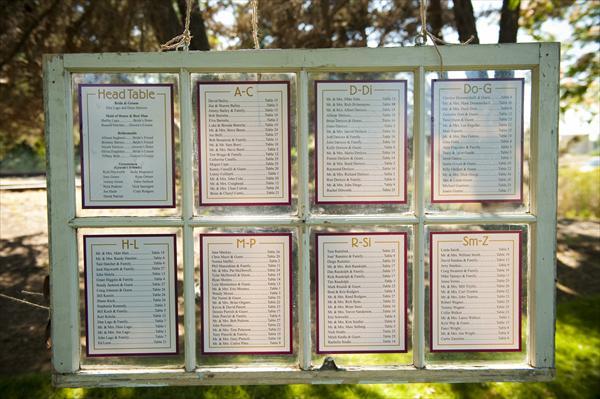 Door Frame seating chart. $45.00