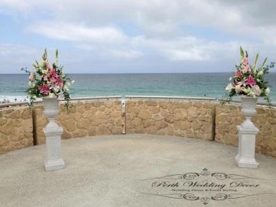 Flower plinths with feature colour. $35.00 each
