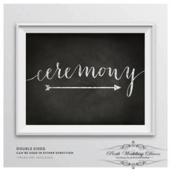 Framed ceremony sign. $1.00 each