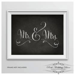 Framed Mr & Mrs sign. $1.00 each