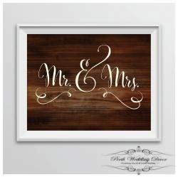 Framed Mr & Mrs sign 2. $1.00 each