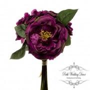Garden Rose Bouquet Cerise (29cmST)