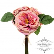 Garden Rose Bouquet Dusty Pink (29cmST)