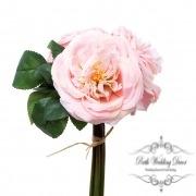 Garden Rose Bouquet Light Pink (29cmST)