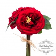 Garden Rose Bouquet Red (29cmST)