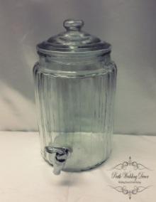 Glass drink dispenser 5.7L. $10.00 each