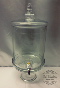 Glass drink dispenser 6L on stand. $12.00 each