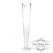 Glass Pilsner Vase 10Dx60cmH Clear-1