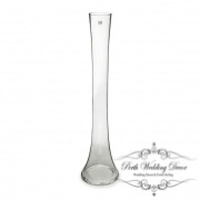 Glass Table Tall Bud Vase Stem 5Dx60cmH Clear-1