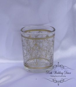 gold pattern votive