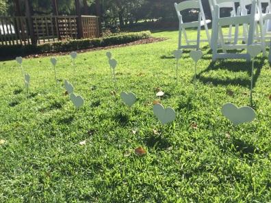 Grass hearts. $0.50 each