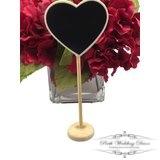 Heart blackboard on stand. $0.50 each
